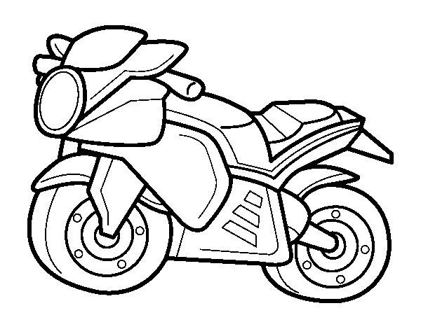 Sport motorbike coloring page