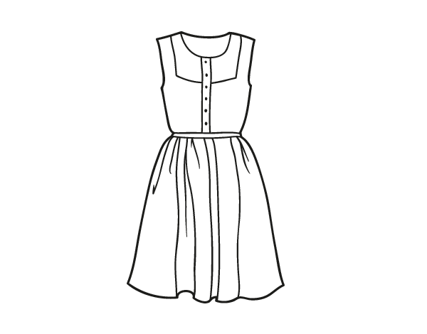 Summer Dress Coloring Page