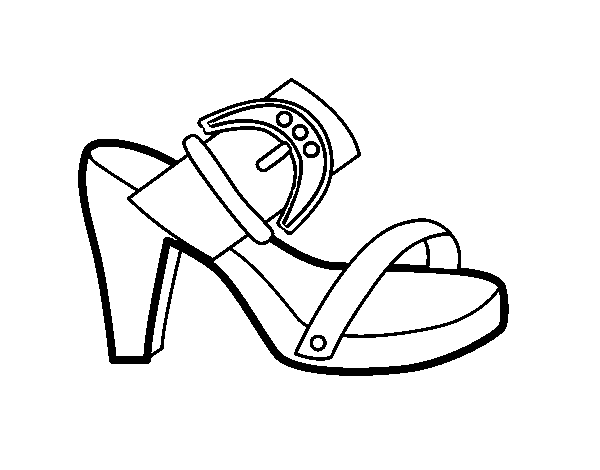 Summer heel coloring page