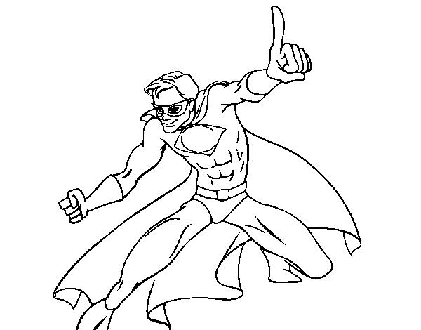 Super boy coloring page - Coloringcrew.com