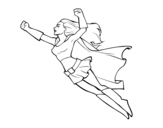 Dibujo de Super girl flying