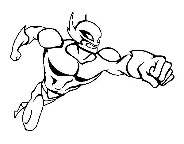 Superhero without a cape coloring page