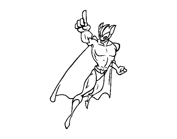 Supervillain coloring page
