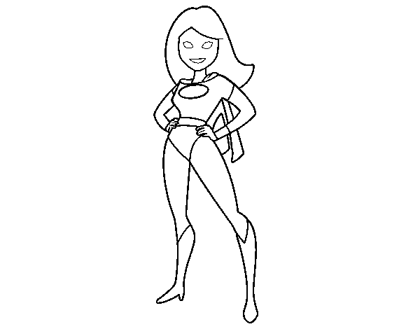 Superwoman coloring page