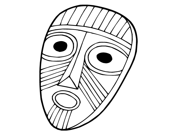 Surprised mask coloring page - Coloringcrew.com
