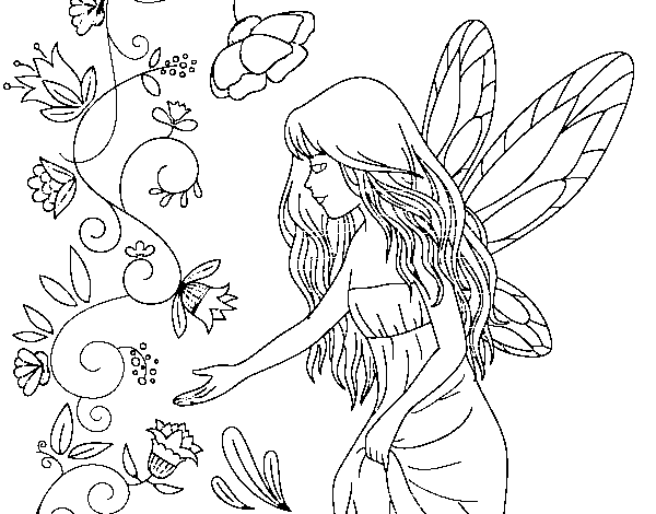 Sylph coloring page