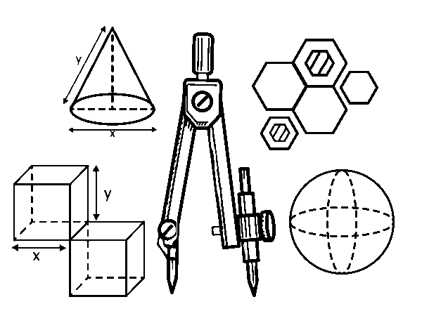 Technical drawing coloring page