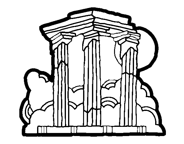 Temple of Olympian Zeus coloring page