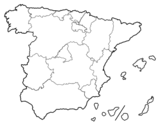 The Autonomous Communities of Spain coloring page