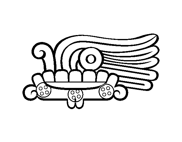 The Aztecs days: the grass Malinalli coloring page