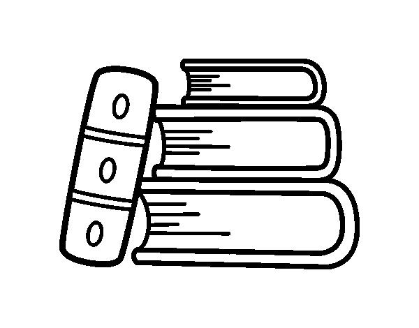 The books coloring page - Coloringcrew.com