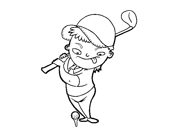 The Golf coloring page