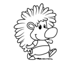The hedgehog coloring page