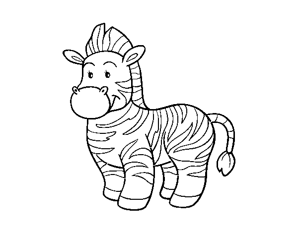 The  zebra coloring page