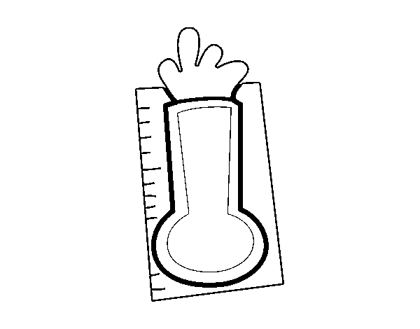 Thermometer coloring page