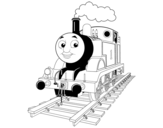 Thomas the engine coloring page