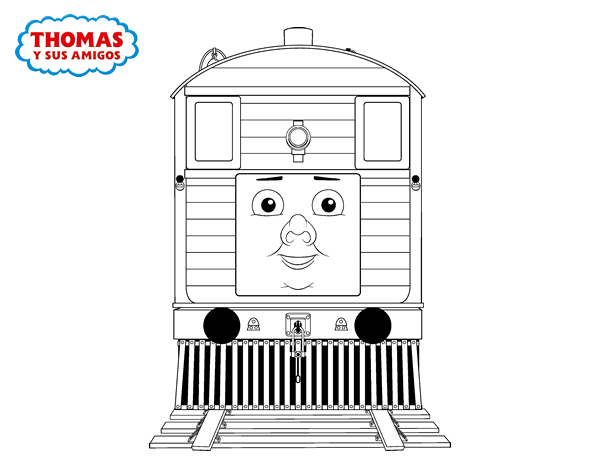 Toby From Thomas And Friends Coloring Page Coloringcrewcom
