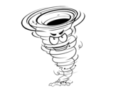 Tornado Strength 3 coloring page