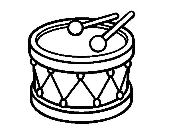Toy Drum Coloring Page Coloringcrew Com