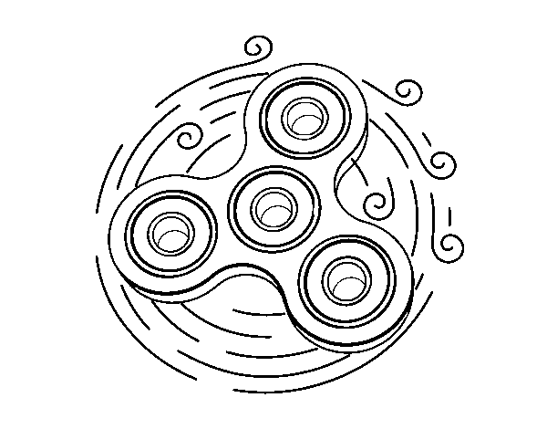 Toy spinner coloring page