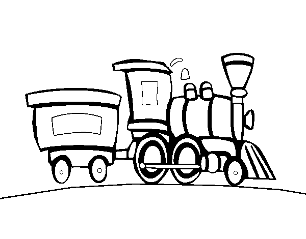 Train With Wagon Coloring Page Coloringcrew Com