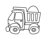 Transport truck coloring page