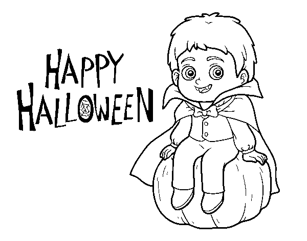 Vampire for Halloween coloring page