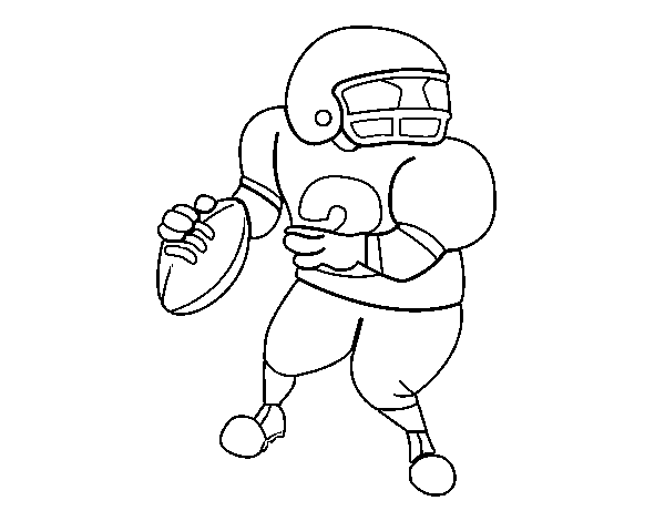 Wide receiver coloring page