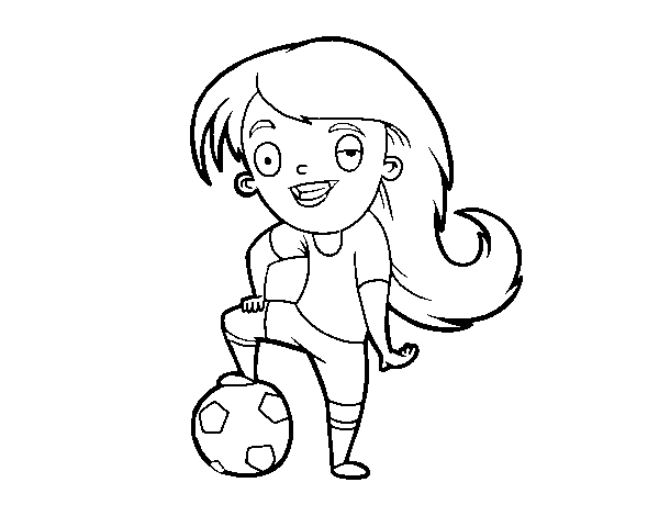 Women's Football coloring page