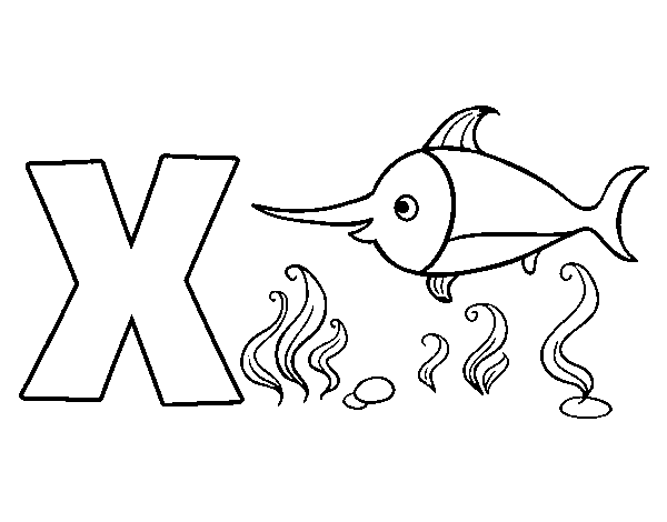 X of Xhiphias coloring page