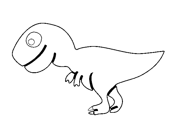 Young Tyrannosaurus rex coloring page