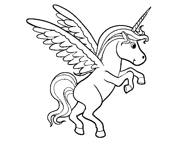 young unicorn coloring page  coloringcrew
