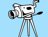 Coloring page Movie camera painted byaaa