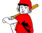 Coloring page Little boy batter painted bybaby jr