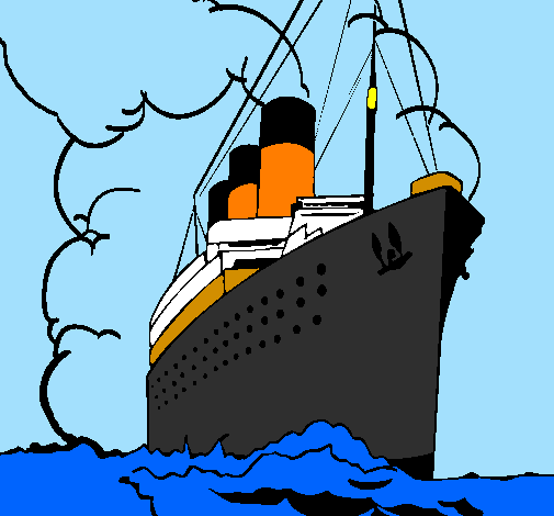 Coloring page Steamboat painted byTitanic