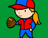 Coloring page Baseball player painted byAudrey