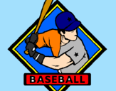 Coloring page Baseball logo painted byangelica
