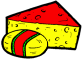 Coloring page Cheeses painted bymili