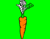 Coloring page carrot painted byKolorin