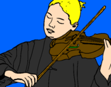 Coloring page Violinist painted bybruno