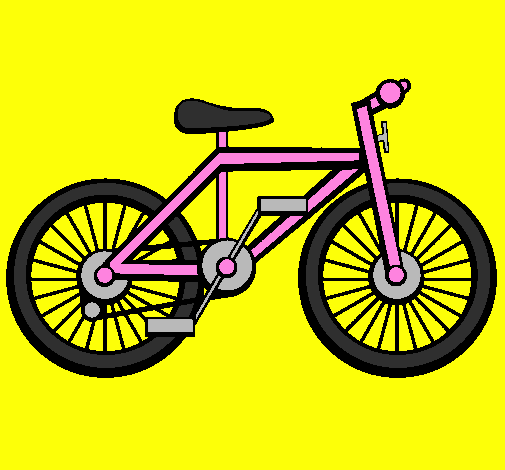 Coloring page Bike painted byml