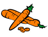 Coloring page Carrots II painted byshan shan