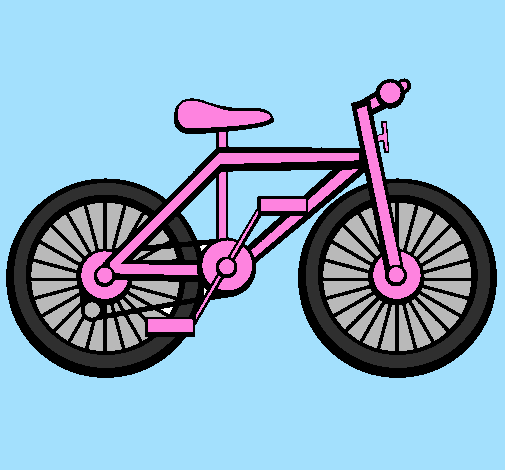 Coloring page Bike painted bychloe