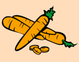 Coloring page Carrots II painted bylana