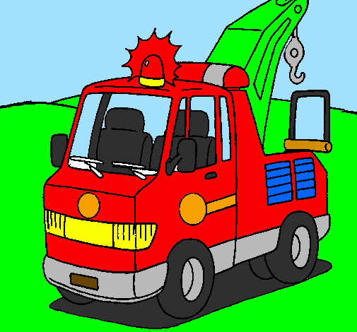 Coloring page Tow truck painted byluiz
