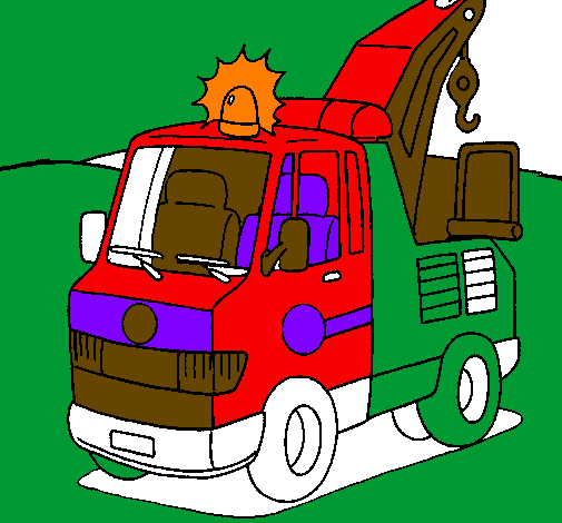 Coloring page Tow truck painted byOwen Fidler