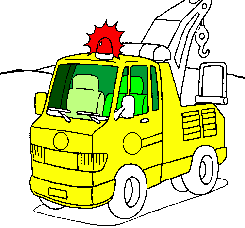 Coloring page Tow truck painted byhammza