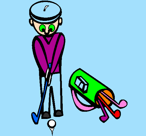 Coloring page Golf II painted bybeth