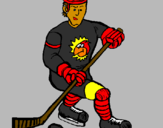 Coloring page Ice hockey player painted bygrady