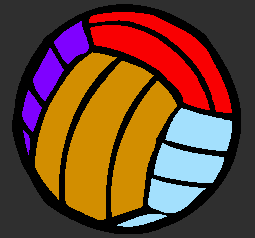 Coloring page Volleyball ball painted byjack 3